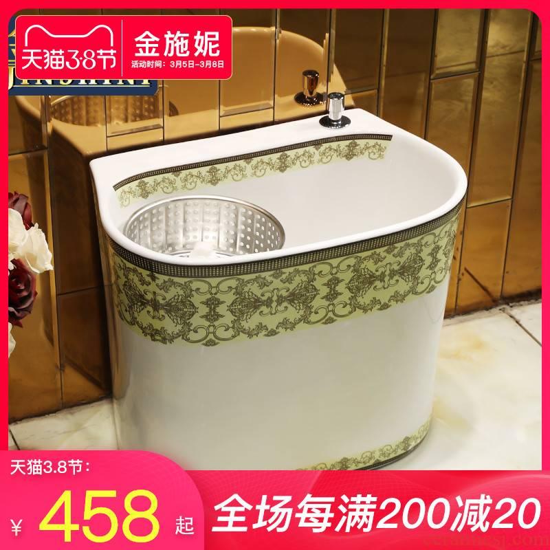 Double drive home floor balcony ceramic mop pool bathroom large wash basin mop pool