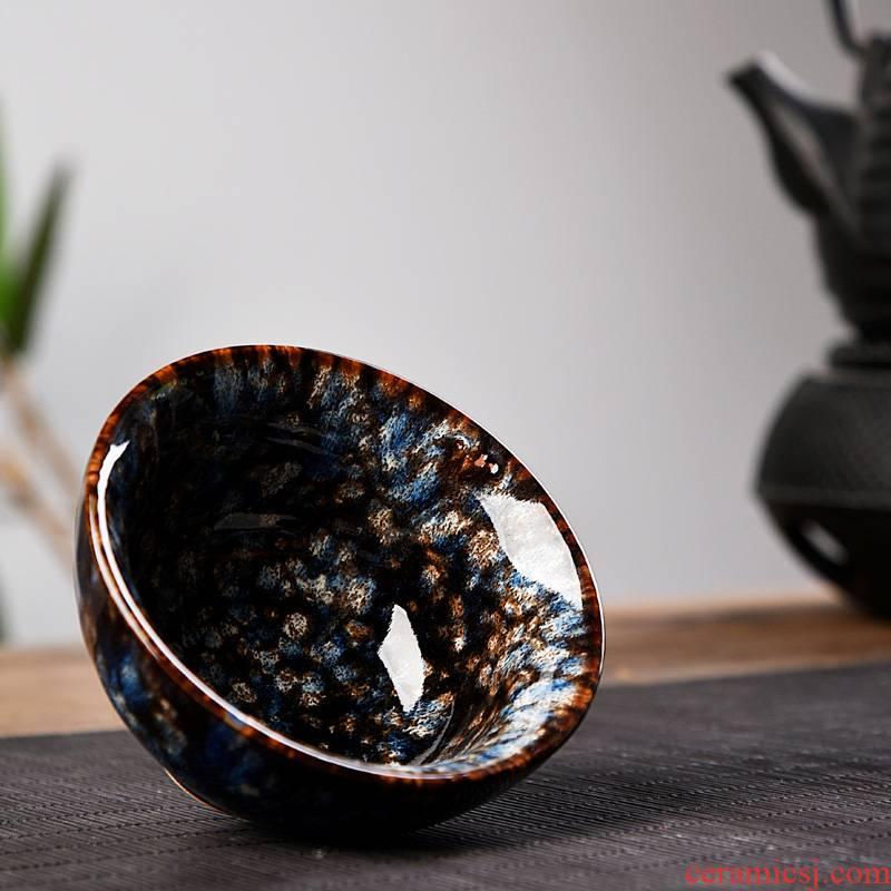 Hui shi tea set ceramic up teacup personal master kung fu tea cup set built light ceramic sample tea cup but small