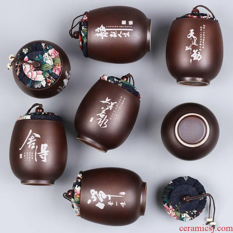 Hui shi ceramic tea pot box firewood seal pot small tea gift packing box mini storage tank to the custom