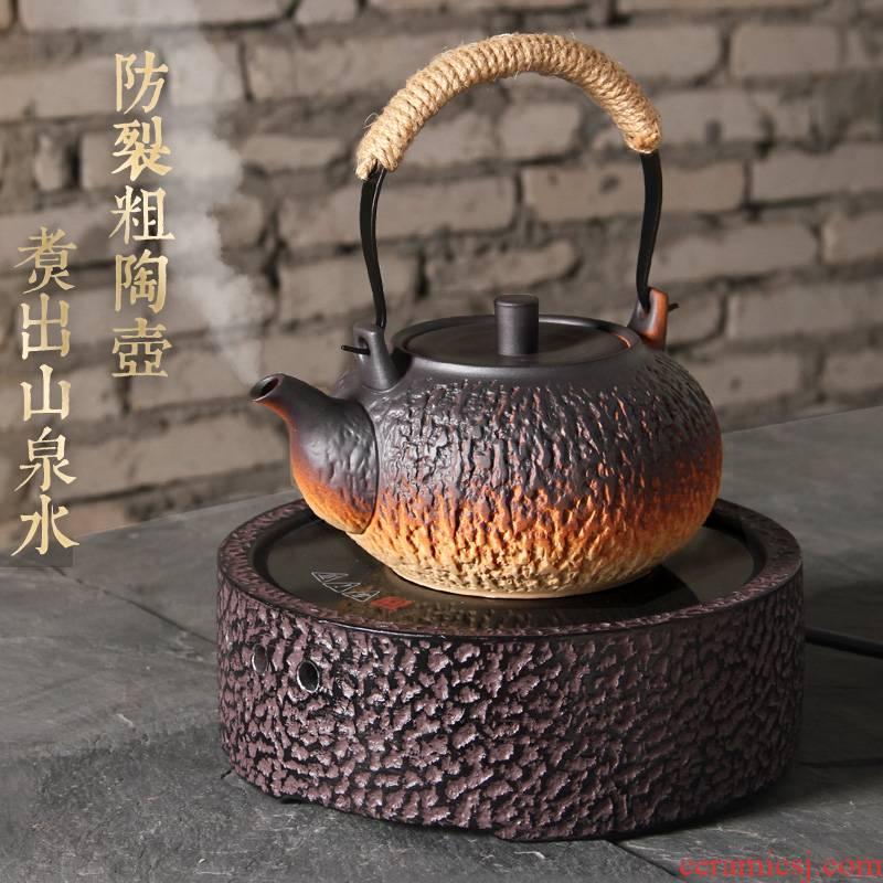 Household utensils kung fu tea kettle big pot to boil tea crude some ceramic porcelain clay POTS to girder electric TaoLu tea stove
