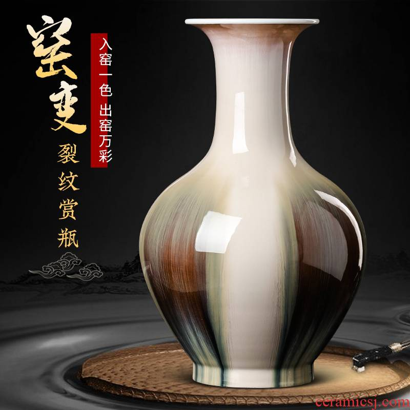 Jingdezhen ceramics archaize crack vases, flower arranging Chinese style furnishing articles, the sitting room porch home TV ark, adornment