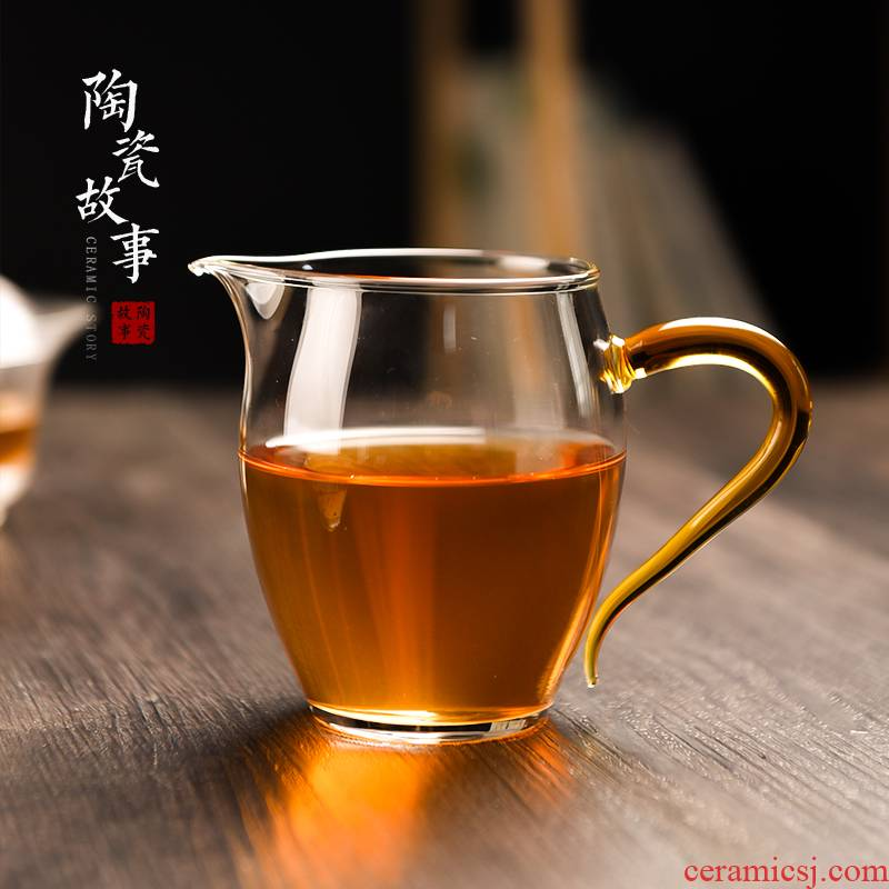 Ceramic fair story glass cup) suit one high - grade Japanese tea high - temperature tea sea points