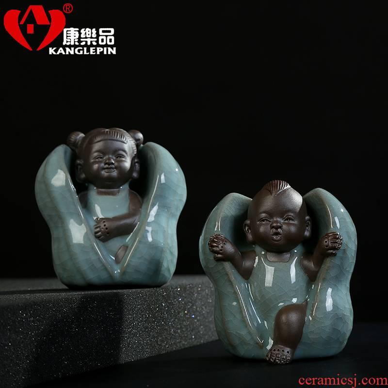 Recreation dehua ceramic peanut tea pet early birth of creative place adorn article can play kongfu tea set