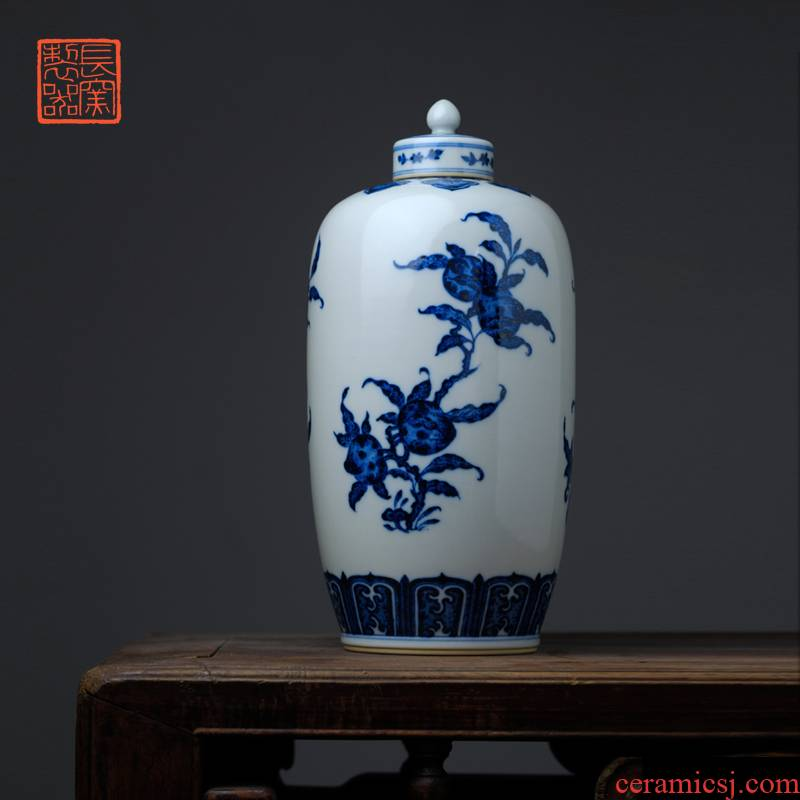 Blue and white shoulder length satisfied discount offered home - cooked in yongzheng flower grain the lantern jingdezhen manual archaize ceramic vase