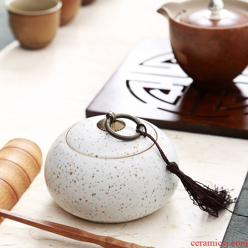 Hui shi violet arenaceous caddy fixings wake tea pot ceramic pot seal boxes, tea boxes of tea tea boxes