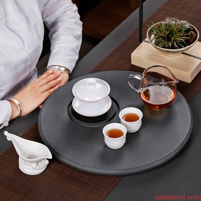 Qiao mu PMZ ceramics are it bearing pot dry terms tray of your up pot a pot of tea sets of kung fu circular contracted tea bearing