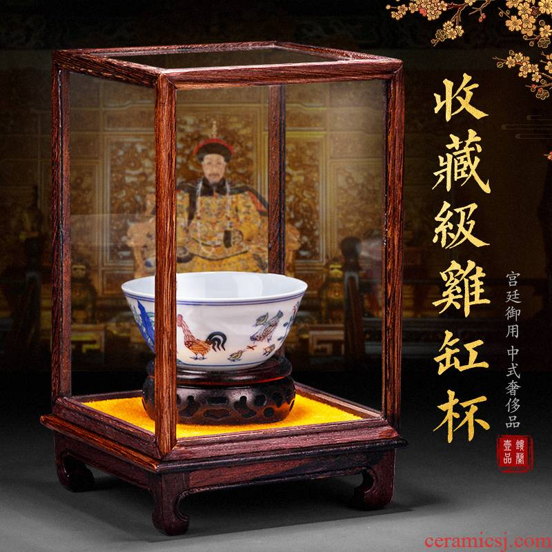 Jingdezhen archaize Ming chenghua bucket color cup master cup ceramic cups chicken cylinder sample tea cup bowl retro light cup