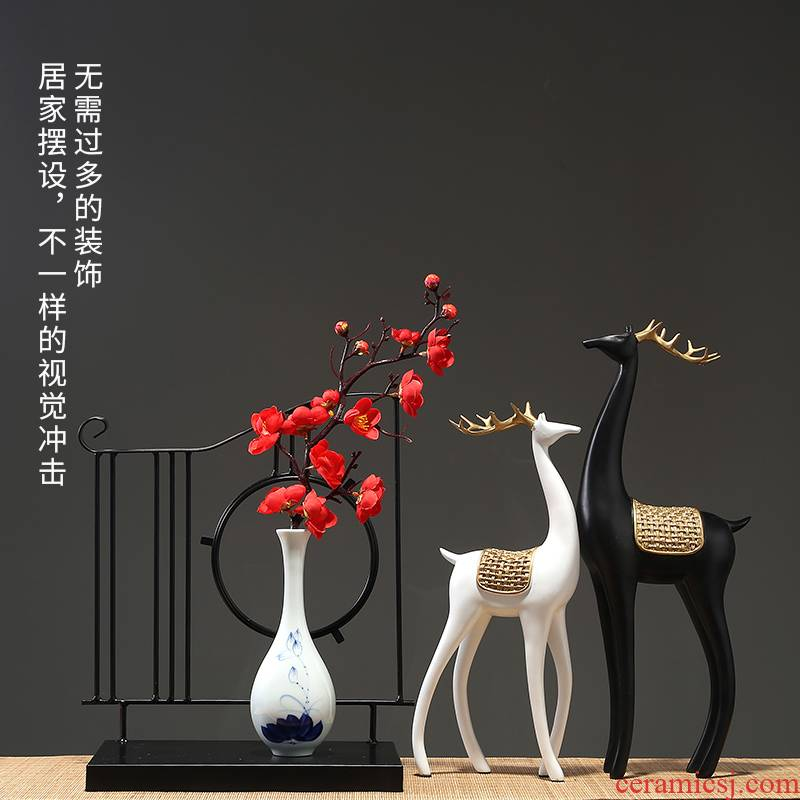 Jingdezhen ceramics vase modern ceramics from the sitting room porch dried flowers flower arrangement furnishing articles home decoration decoration