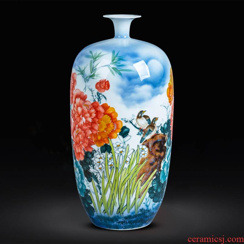 Jingdezhen ceramics hand - made blooming flowers small expressions using of large vases, sitting room of Chinese style household adornment furnishing articles