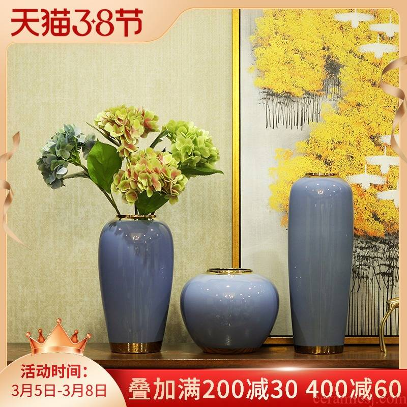 Ceramic modern new Chinese vase furnishing articles dried flower arranging flowers sitting room TV ark, contracted household adornment example room