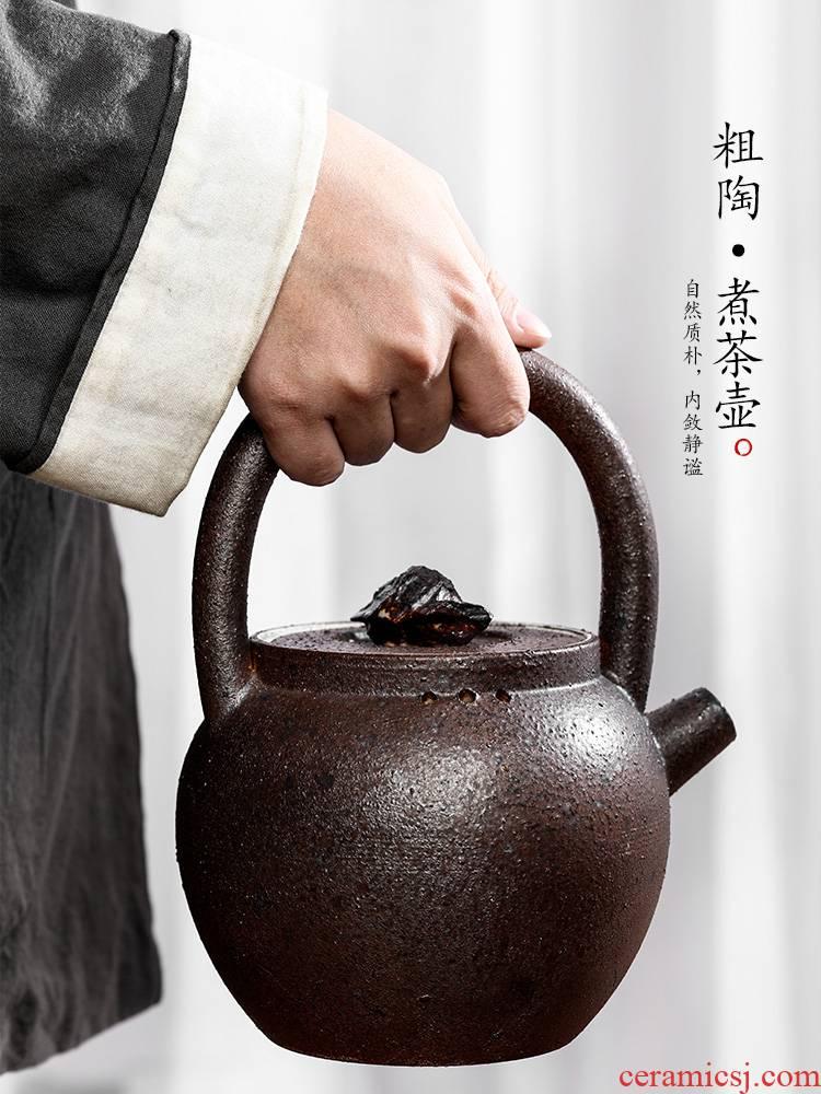 Jingdezhen pure manual cooking pot clay pot of Chinese kongfu tea pot of single pot girder are large teapot