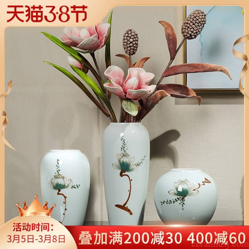 I and contracted ceramic vases, flower arranging dried flower restaurant TV ark place to live in the sitting room porch decoration decoration
