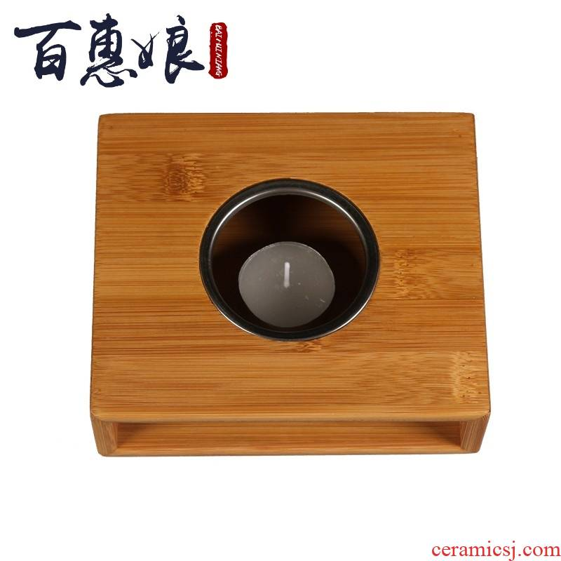 (niang dry heating temperature base bamboo bamboo tea table household candles to boil tea stove Japanese kung fu bao
