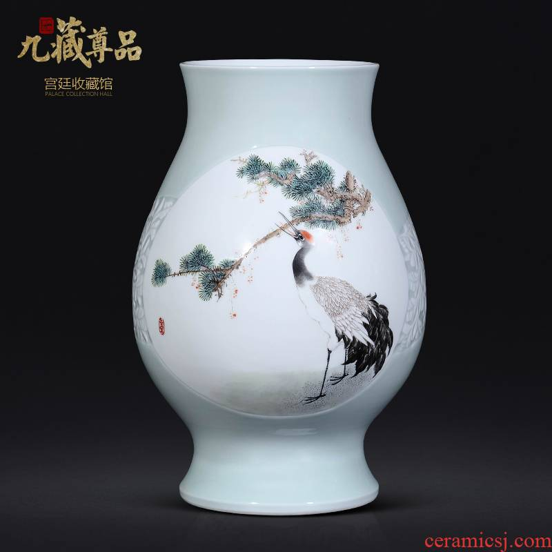 The Master of jingdezhen ceramics hand - made vases, new Chinese style living room porch TV ark, flower arranging decoration as furnishing articles