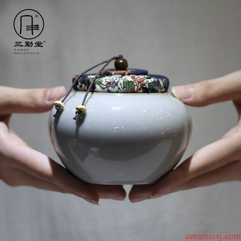 Three frequently imitated imperial tea warehouse # caddy fixings ceramic medium sealed as cans of jingdezhen tea service to save POTS S54002