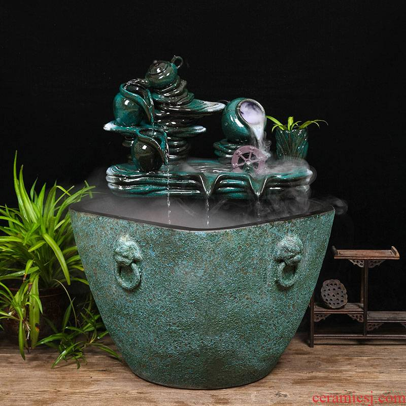 Jingdezhen thick some ceramic porcelain basin of aquarium water lily lotus large cylinder cylinder tank tortoise goldfish bowl lotus basin water furnishing articles