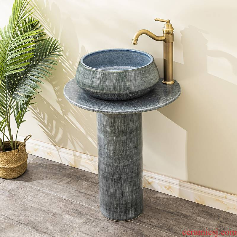 Floor pillar lavabo toilet ceramic lavatory basin balcony is suing the home a whole basin of 14