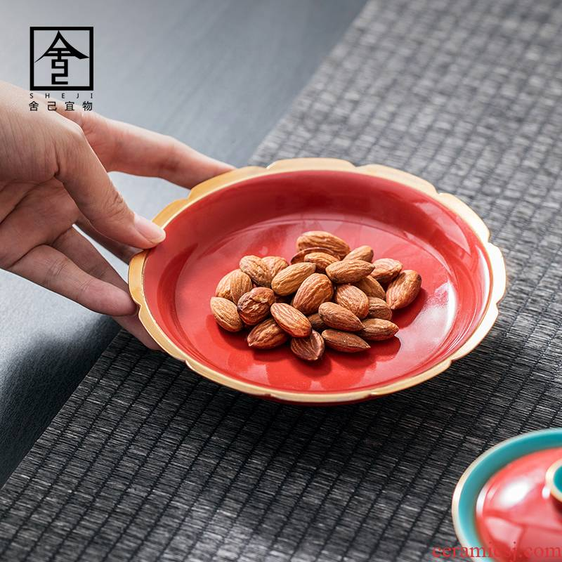 """The Self - """"appropriate for the content of the Forbidden City, red Chinese jingdezhen pot bearing tea accessories tureen doesn masters cup mat pure manual paint"""