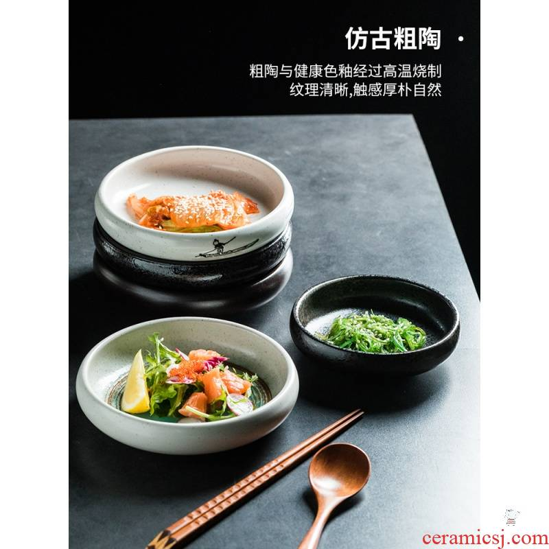 UTSUWA taste Japanese pickles disc ceramic plate plate pickling dab of cold dish dish dish dish flavor dish vinegar sauce