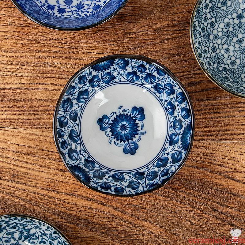 Italy gathered through Japanese tableware dab of plate household taste dish of soy sauce vinegar sauce dish plate ceramic plates side dish