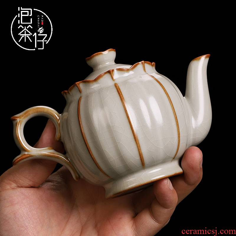 The From one little teapot with a ceramic teapot single pot of your up to open a piece of ice to crack glaze household large pure manual
