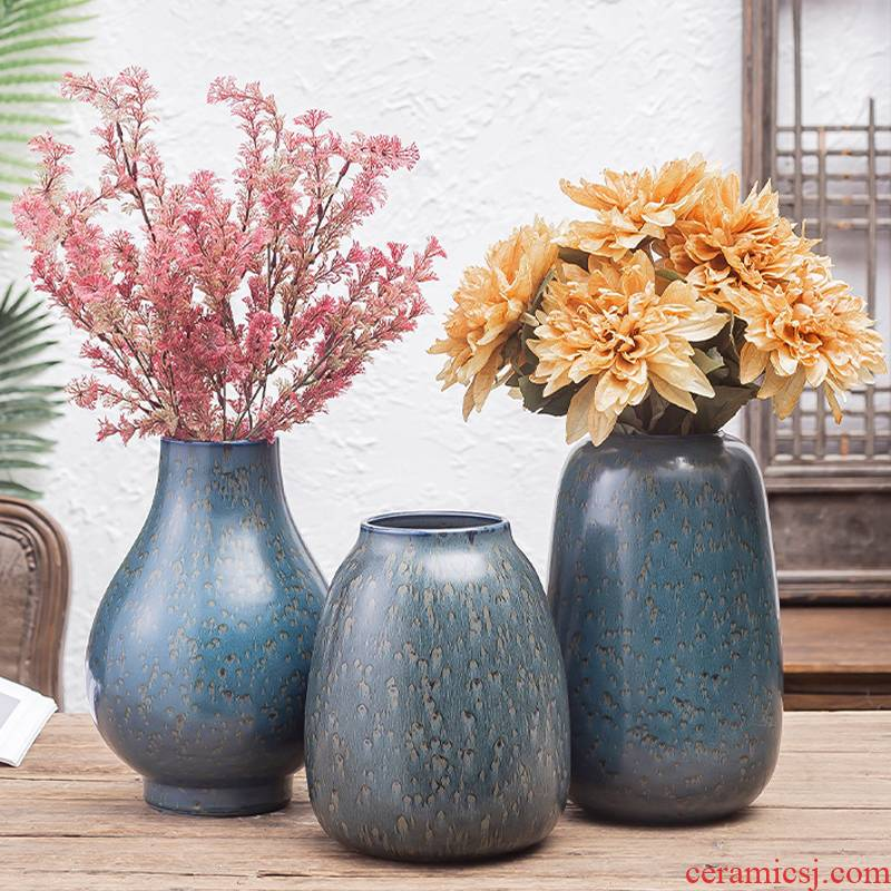 Vase is placed in the sitting room is light and decoration ceramics dried flowers, flower arranging Chinese American Nordic creative contracted table web celebrity
