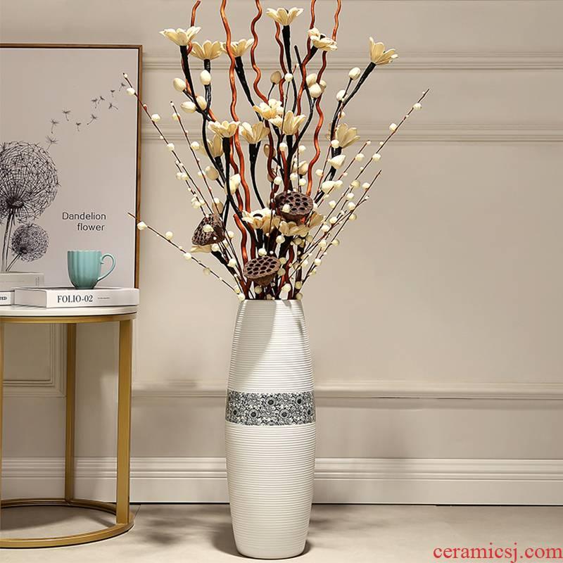 Jingdezhen ceramic vase landing big trumpet furnishing articles simulation flower adornment European - style home sitting room flower arrangement