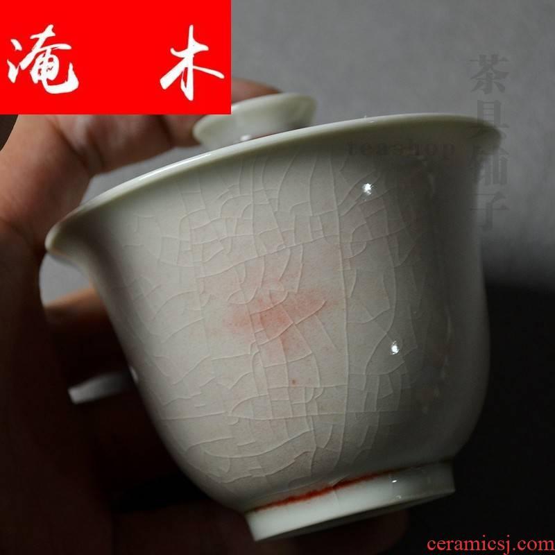 Flooded jingdezhen wood antique tureen dai li type bowl mercifully time tea bowl on hand