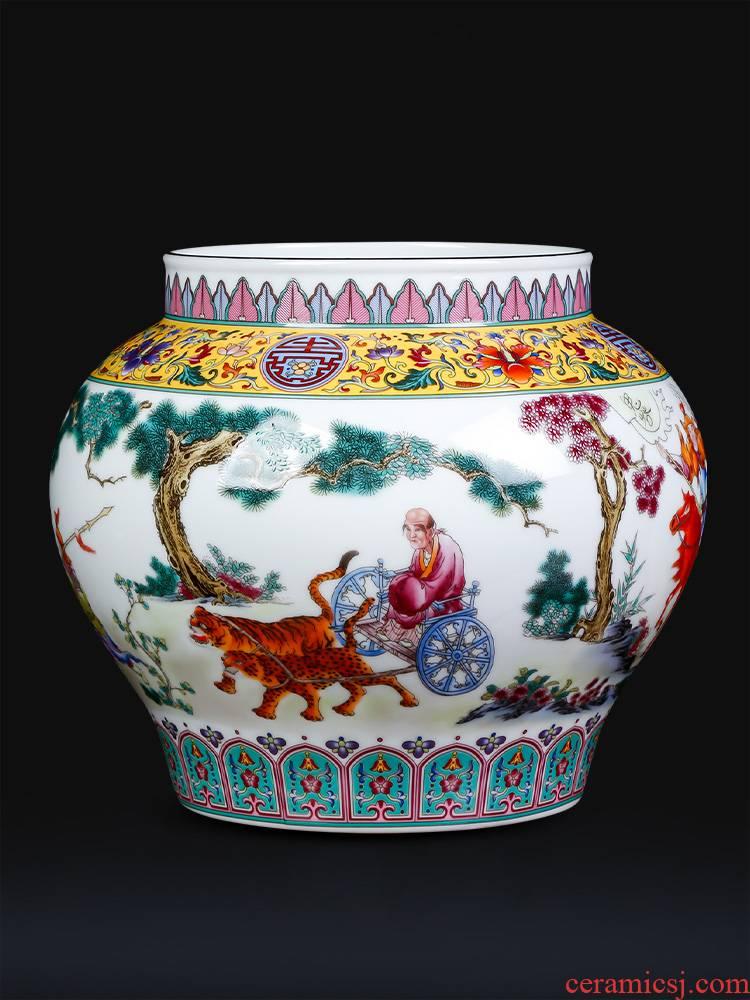 Antique vase guiguzi setting tank enamel porcelain of jingdezhen ceramics home sitting room adornment is placed
