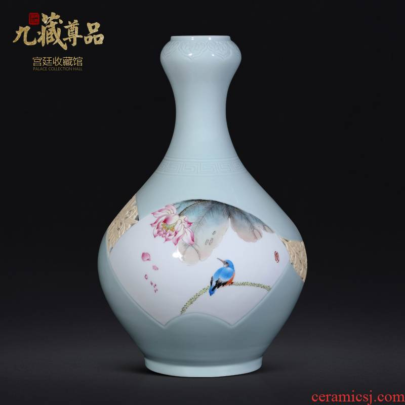 Jingdezhen ceramics masters hand - made the sitting room porch TV ark, vases, new Chinese style household decoration as furnishing articles