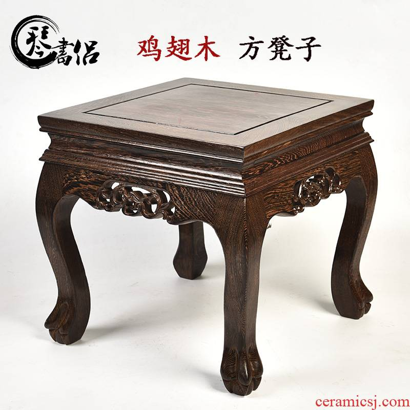 Pianology picking chicken wings wood square who stone carved wooden furnishing articles aquarium flowers miniascape base solid mahogany base