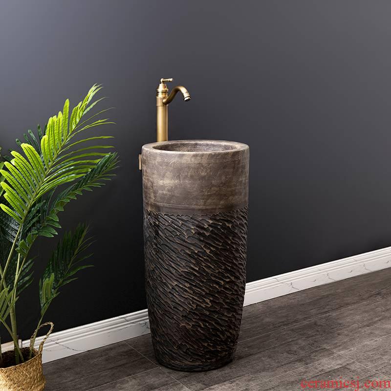 Ceramic basin floor balcony is suing the lavatory retro column pillar household toilet lavabo is 25