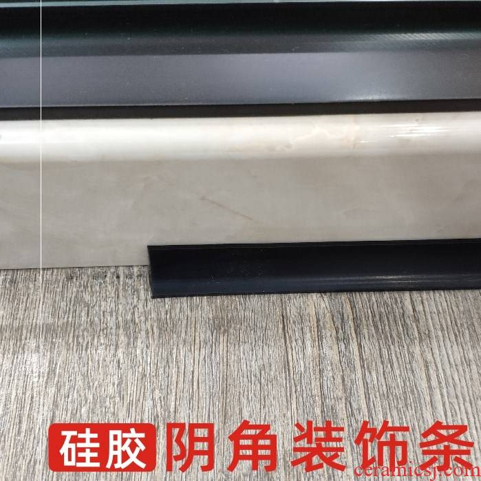 Ceramic tile Yin Angle bead silicone line decoration article Yin Angle sealing side on the corner corner serging convergent seam sealing strip