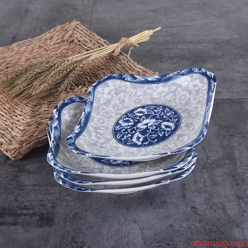 Utsuwa4 only Japanese QingHuaPan household ceramics 0 dishes suit FanPan the deep dish 8 inches round