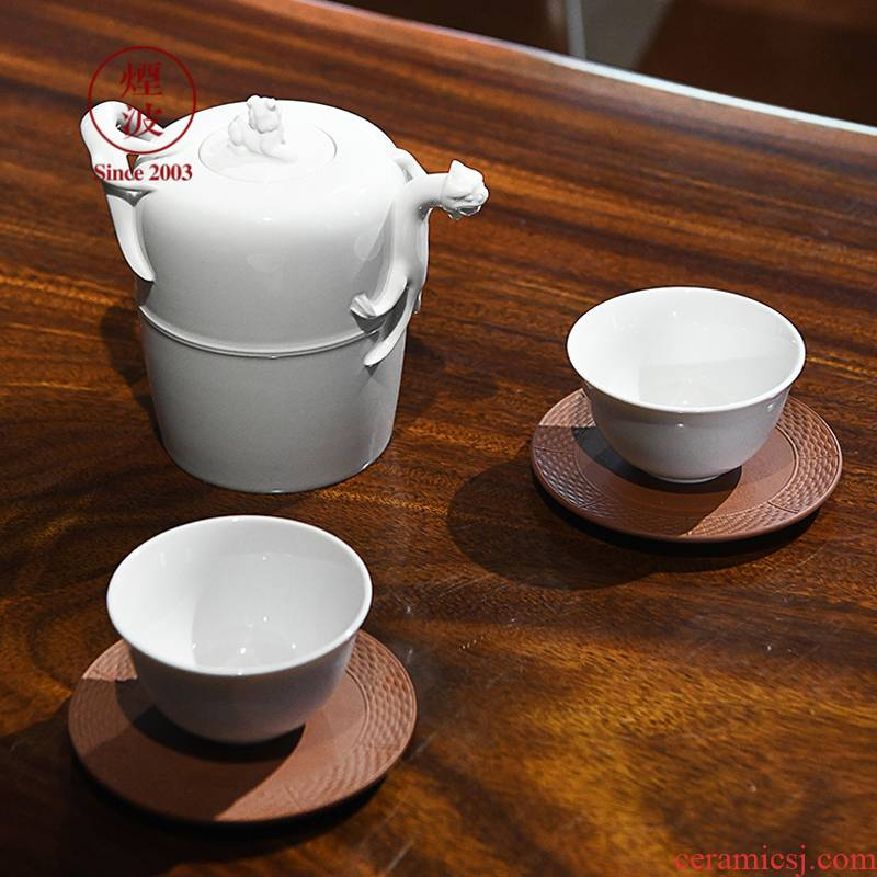 German MEISSEN mason pure white porcelain stoneware series Chinese teacups lizard pot of tea set