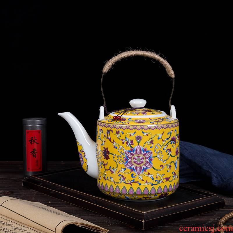 Blower, ceramic tea set household enamel teapot tea pot pot of Chinese large capacity tea kettle teapot