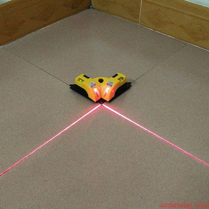 The Line horizontal equipment 90 degrees red floor tile generating wire lineup right Angle laser water level