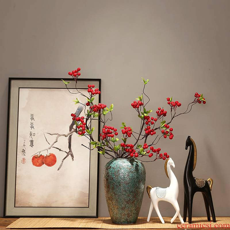 Modern creative home sitting room porch place jingdezhen ceramics vase decoration decoration new Chinese zen