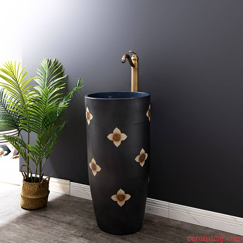 Ceramic basin floor balcony is suing the lavatory retro column pillar household toilet lavabo is 26