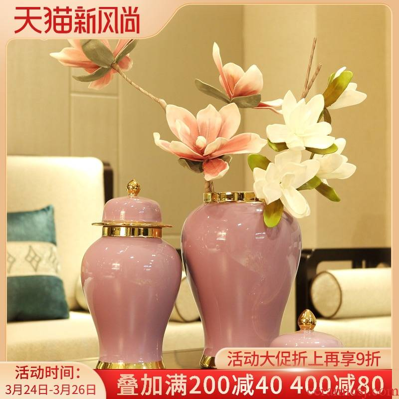 The general European ceramic pot place to live in The sitting room porch example room TV ark, creative decoration desktop decoration