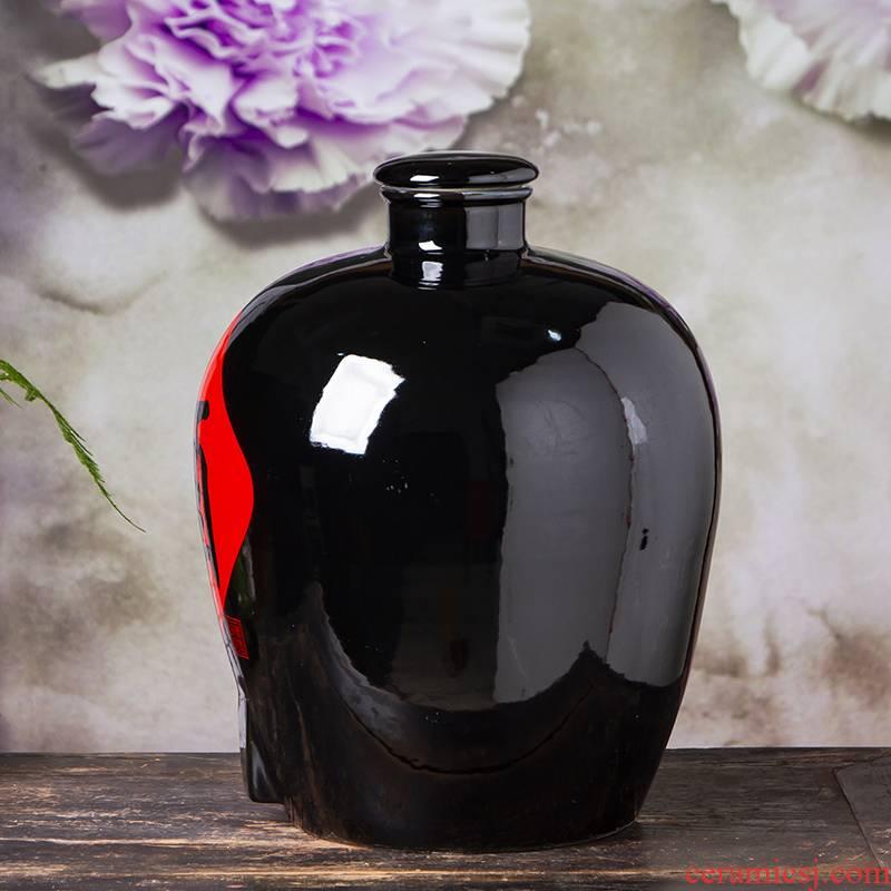 The Jar ceramic terms jugs 10/20/50 jin seal household hoard it empty wine bottles of jingdezhen hip flask