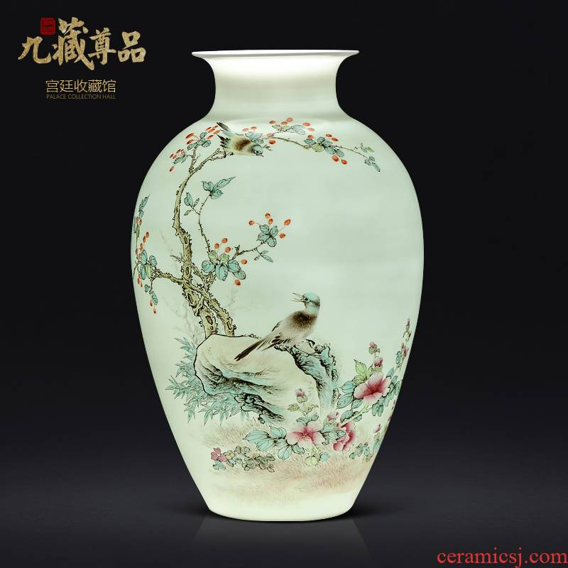 Jingdezhen ceramics famous hand - made enamel vase of new Chinese style living room TV ark, flower arranging porch is decorated furnishing articles