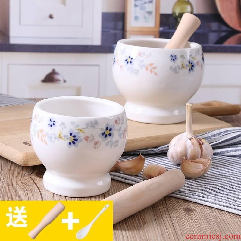 The Transformer ceramic medicine kitchen a mortar garlic mashed garlic to offer them a household pot cylinder mashed garlic dao garlic ground