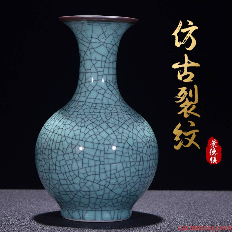Jingdezhen ceramics Chinese antique vase of crack of the sitting room TV ark, wine home decoration creative furnishing articles