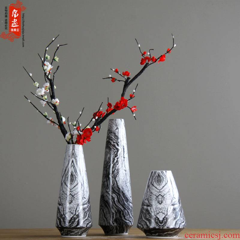 Europe type restoring ancient ways ceramic flower marble texture household act the role ofing is tasted ceramic flower show villa ceramic flower receptacle