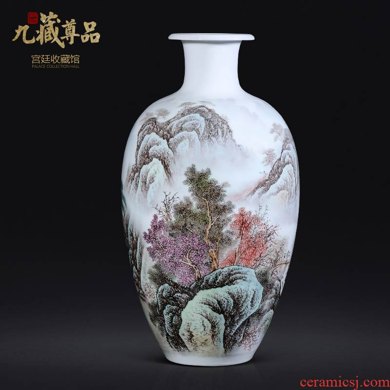 Dong - Ming li hand - made scenery vase of jingdezhen ceramics Chinese style living room TV ark, flower arranging porch is decorated furnishing articles
