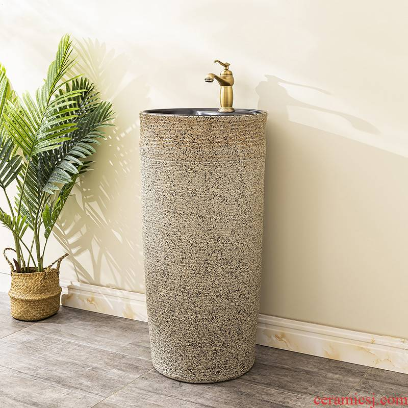 Floor pillar lavabo toilet ceramic lavatory basin balcony is suing the home a whole basin of 12