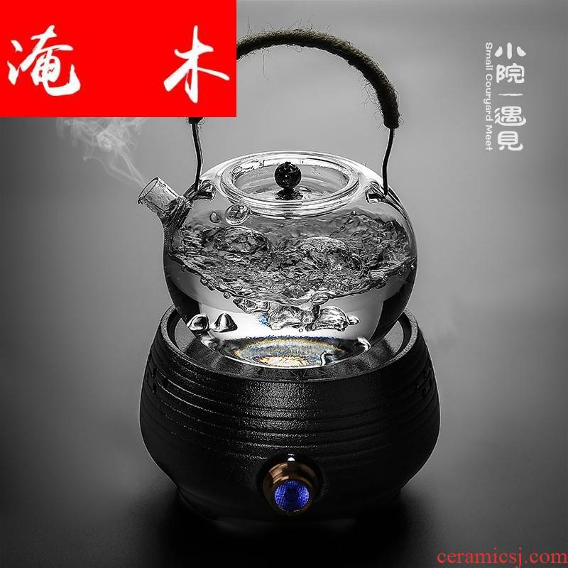 Submerged ceramic the wood yard cook of black tea, the electric TaoLu heat - resistant glass kettle cooking household utensils sets of the teapot