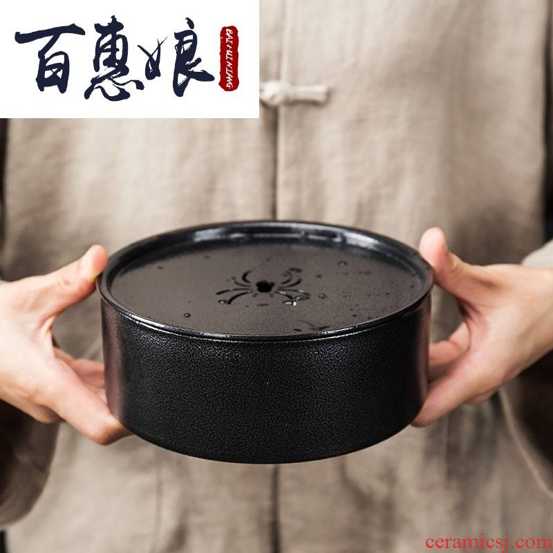 (niang, wrought iron pot of tea tray bearing dry terms plate machine, purple sand teapot mat hand built water storage saucer dish of tea taking