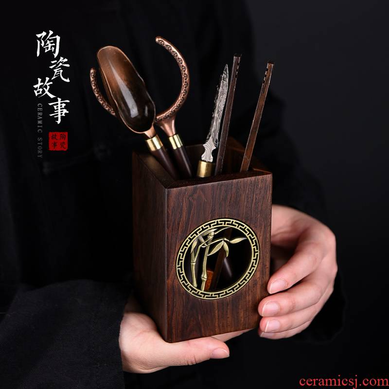 Ceramic story of bamboo tea 6 gentleman 's suit kung fu tea accessories ChaGa tea tea knife tools home